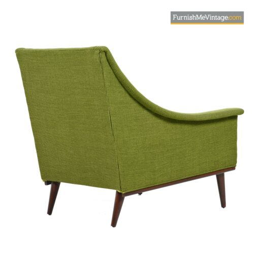 green tweed selig armchairs
