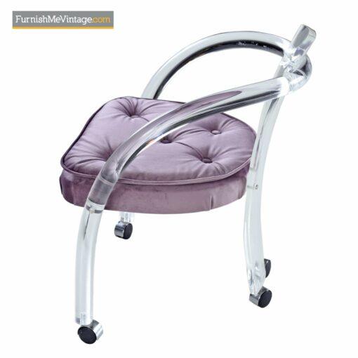 hill mfg acrylic tubular dining chairs