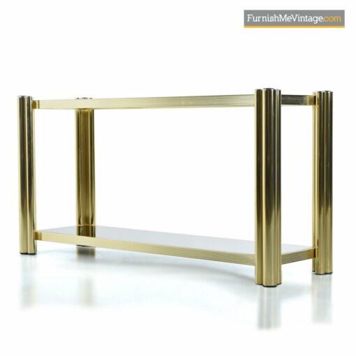 hollywood regency brass console