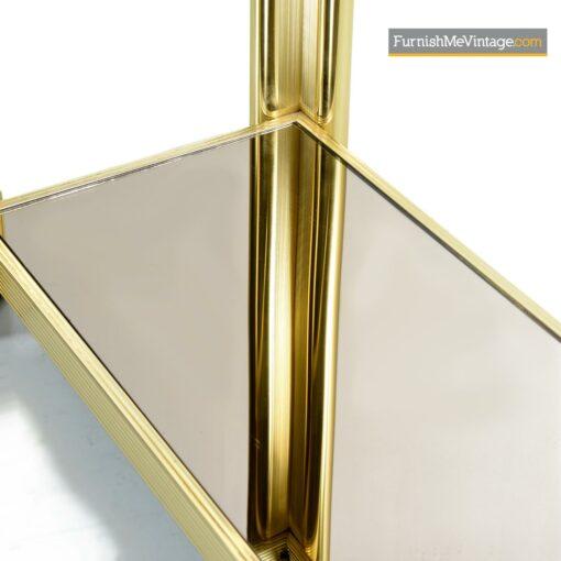 mid century modern gold sofa table
