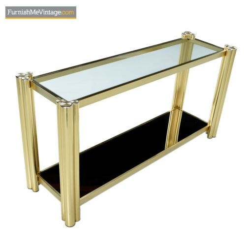 modern console table gold brass