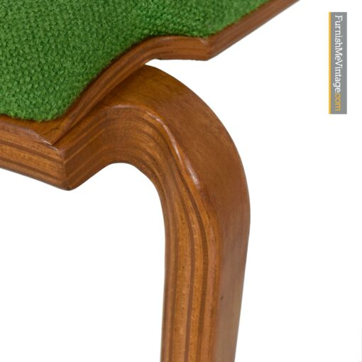 modern dining chairs green tweed