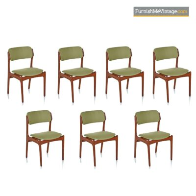 scandinavian modern dining chairs teak