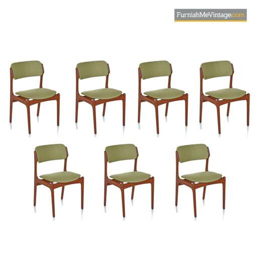 scandinavian modern dining chairs teak