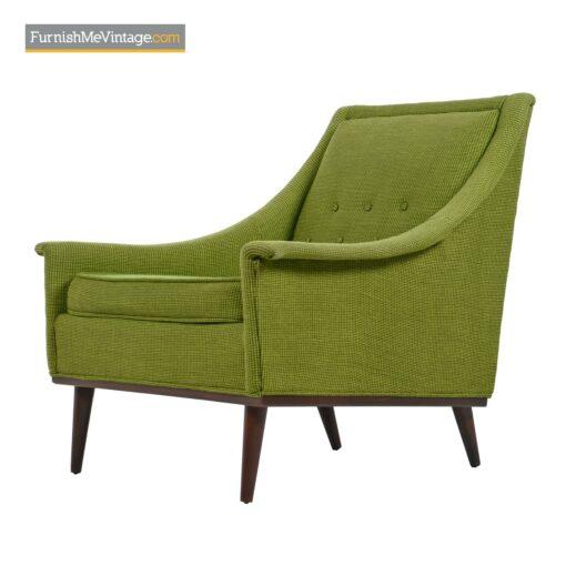 selig lounge chairs green tweed
