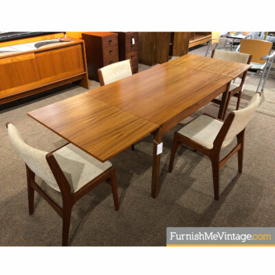 teak expanding dining table