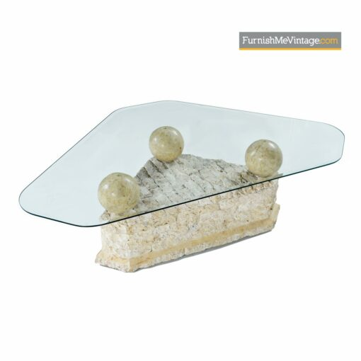 tessellated stone modern coffee table