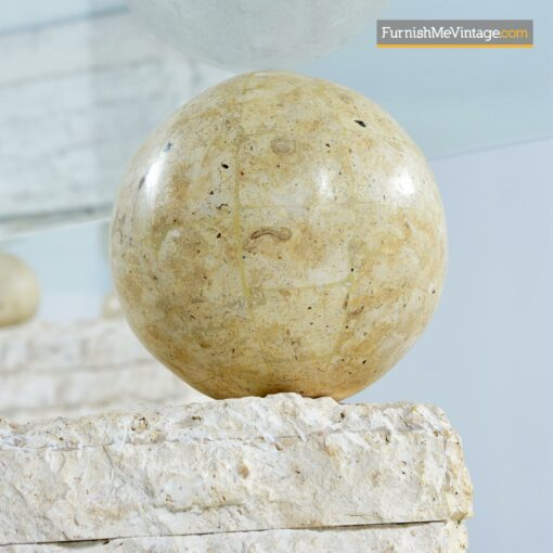 tessellated stone orb modern cocktail table