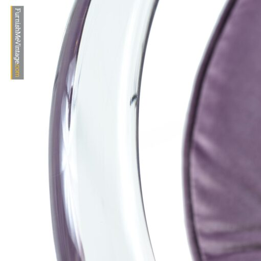 tubular acrylic lucite modern chairs