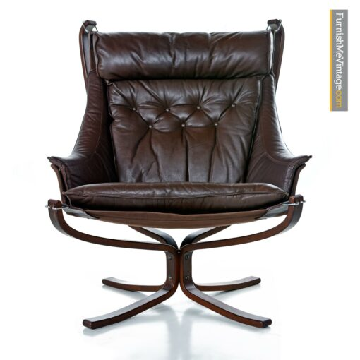 vintage leather falcon chair