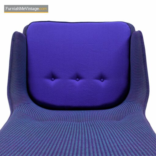 vintage modern purple tweed lounge chair