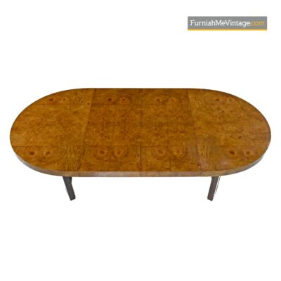 70s modern burl dining table