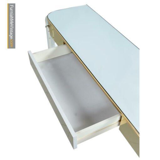 acrylic hollywood regency console table