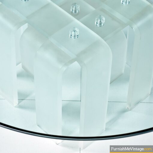 acrylic lucite curved leg coffee table