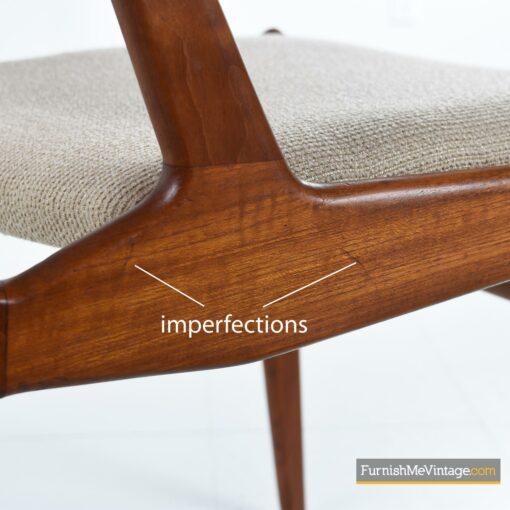 arne vodder danish teak chairs