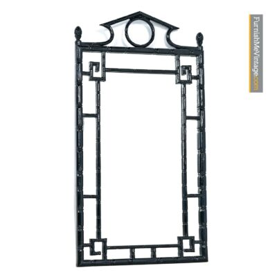 asian modern black lacquer mirror