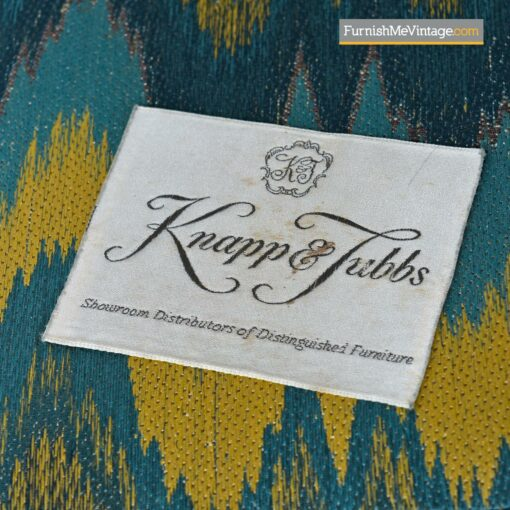 baker knapp tubbs blue yellow sofa