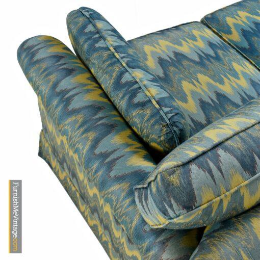 baker loveseat sofa chevron vector fabric
