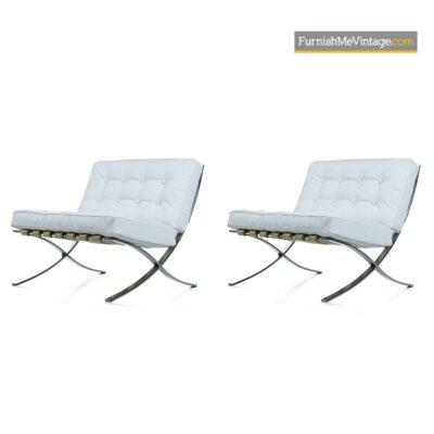 barcelona chrome lounge chairs