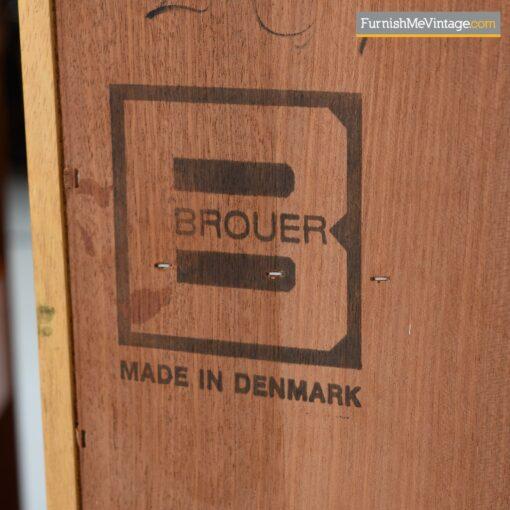 brouer danish teak nightstands