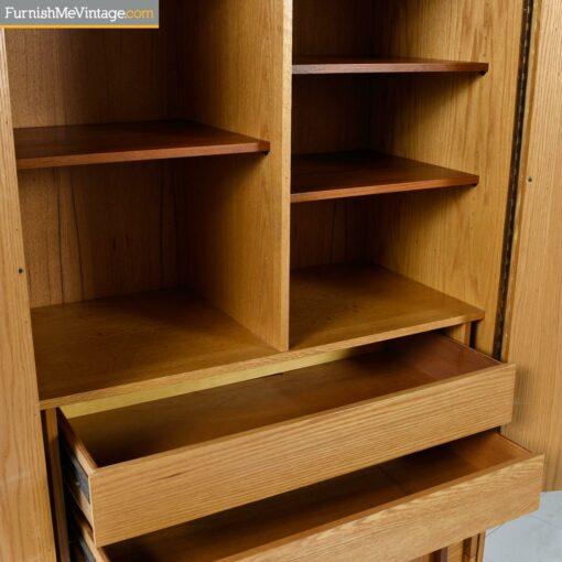 brutalist modern rosewood maple armoire