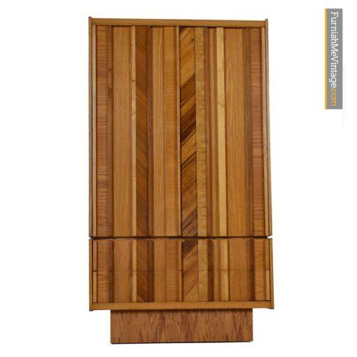 brutalist modern rosewood maple dresser