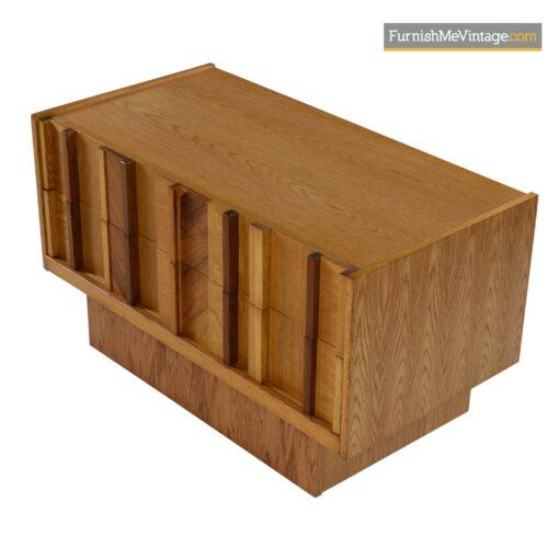burl maple rosewood brutalist armoire