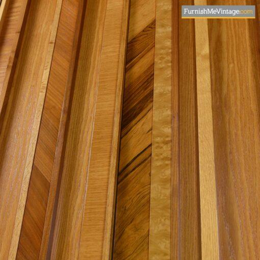 burl maple rosewood brutalist dresser