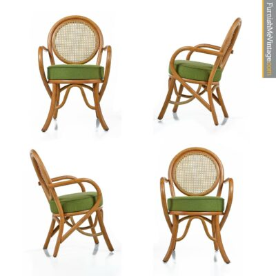 cane back rattan pretzel chairs