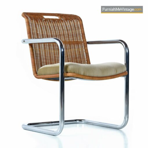 cantilever chrome wicker modern chairs