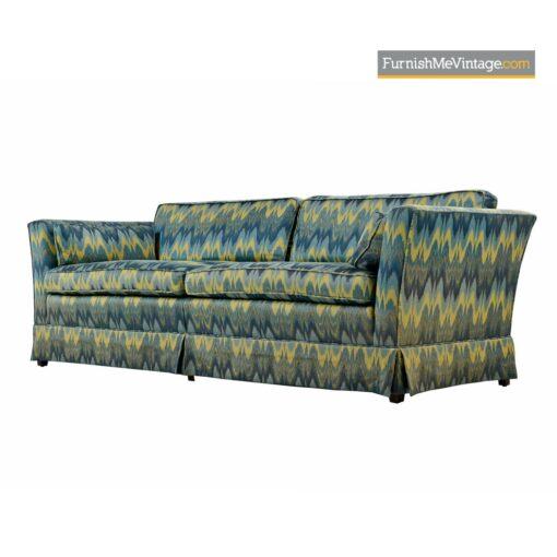 chevron fabric baker sofa