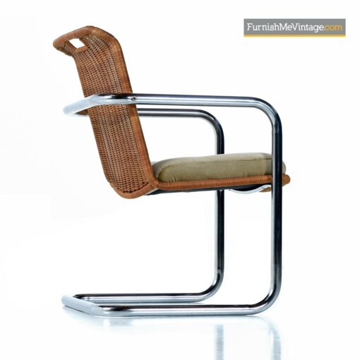 chrome cantilever wicker modern chairs