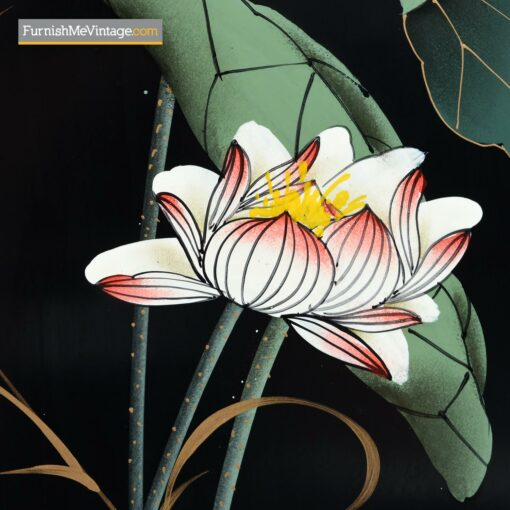 decorative painted oriental dresser