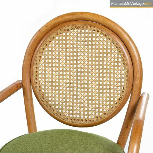 frankl cane back rattan pretzel chairs