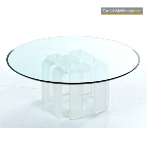 frosted lucite coffee table