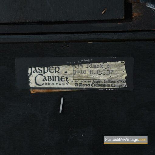 jasper china hutch black lacquer