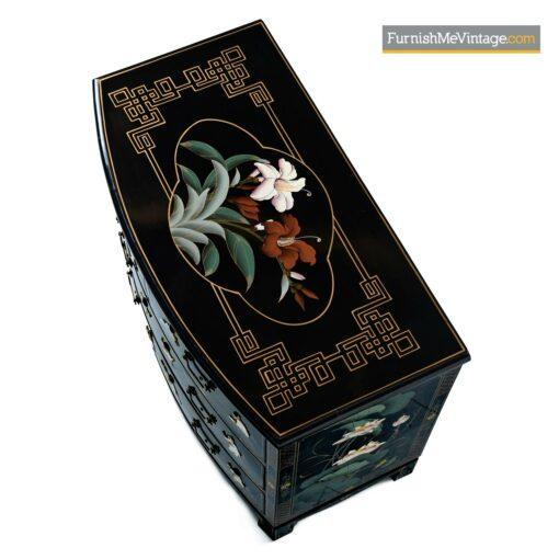 mid century asian lacquer dresser
