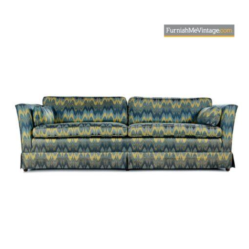mid century baker sofa chevron fabric