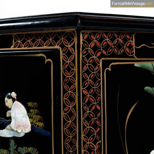 mid century oriental lacquer dresser