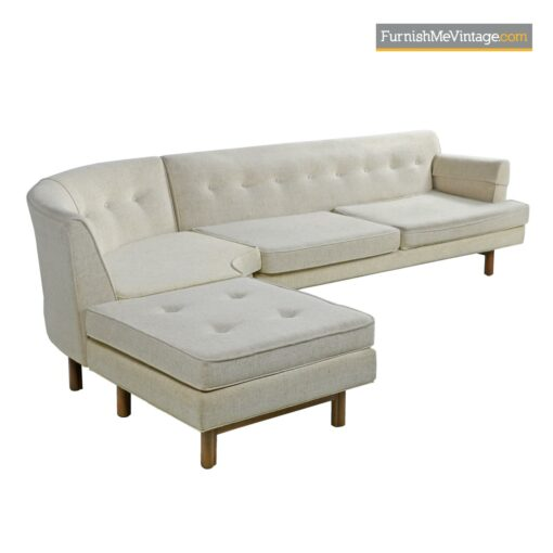 mid century tufted sofa sectional