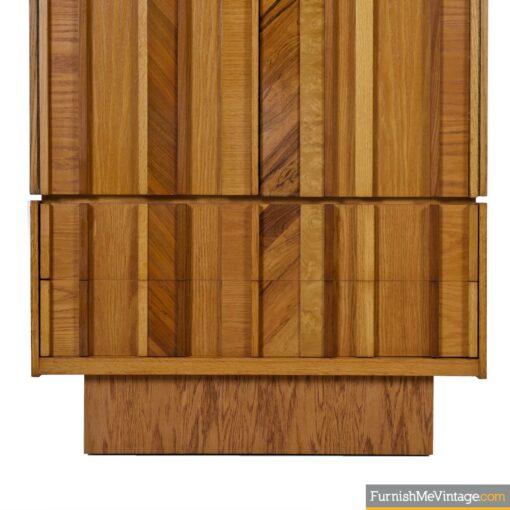 oak burl rosewood brutalist gentlemens dresser