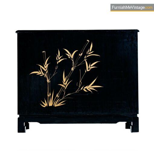 oriental painted dresser black lacquer