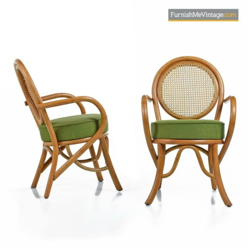paul frankl rattan chairs