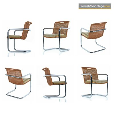 rattan chrome gold velvet dining chairs
