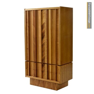 rosewood burl oak brutalist armoire dresser