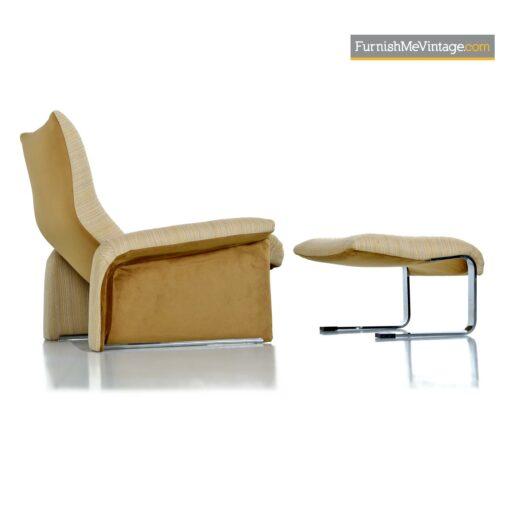 saporiti italia lounge chair ottoman