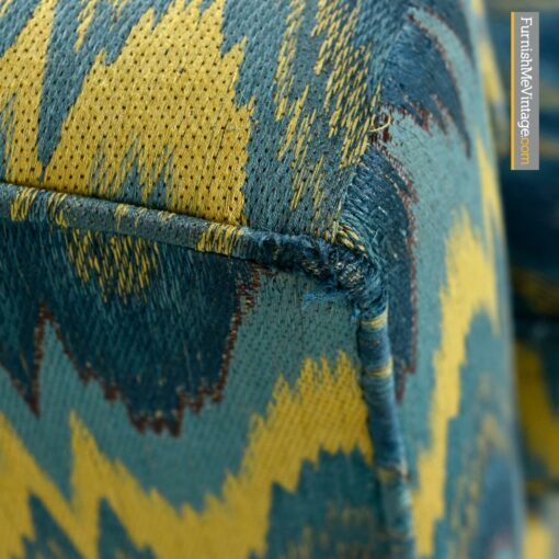 vintage baker sofas chevron fabric