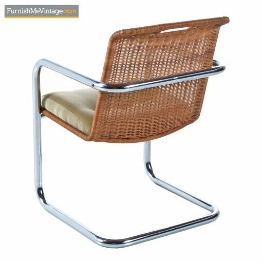 vintage modern cantilever chrome chairs