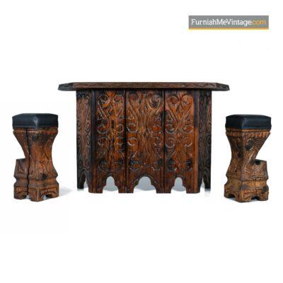 witco carved tiki bar