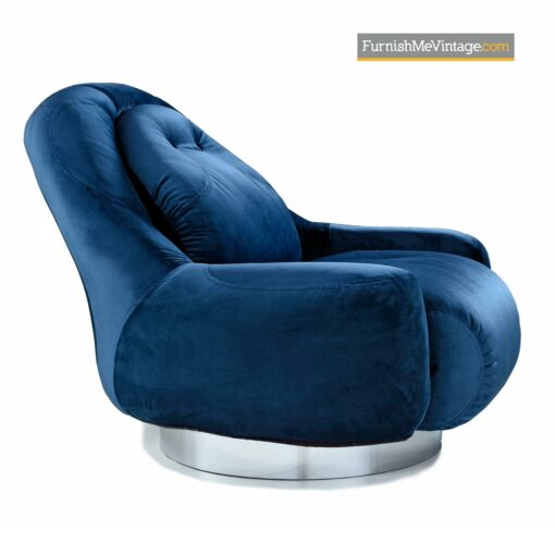 Guido Faleschini chrome swivel pace chair